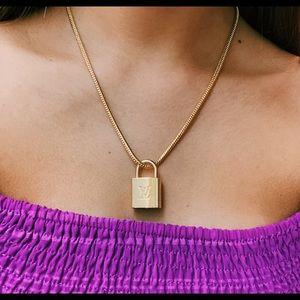 LV lock necklace